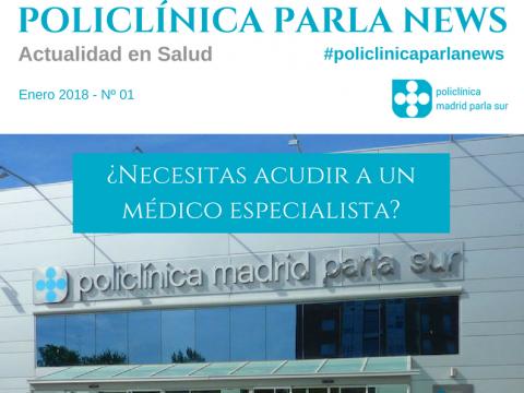 revista sobre medicina y salud Policlínica Parla News, portada