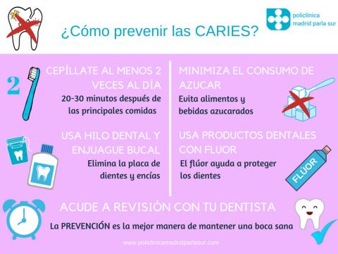 prevenir caries dentista Parla Infografia