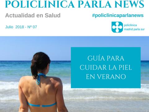 Revista salud Policlinica Parla News Julio 2018, portada