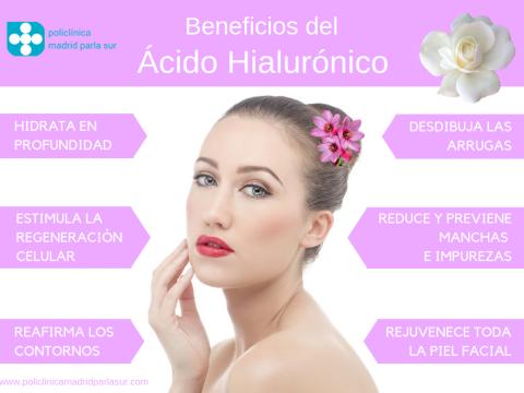 beneficios del acido hialuronico, estetica parla, infografia