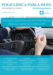 Revista medicina y salud Policlínica Parla News, número de octubre 2018, portada