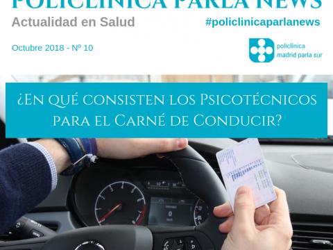 Portada Revista medicina y salud Policlínica Parla News, número de octubre 2018