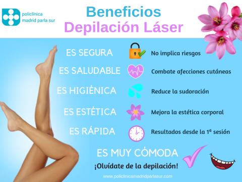 depilación laser parla beneficios