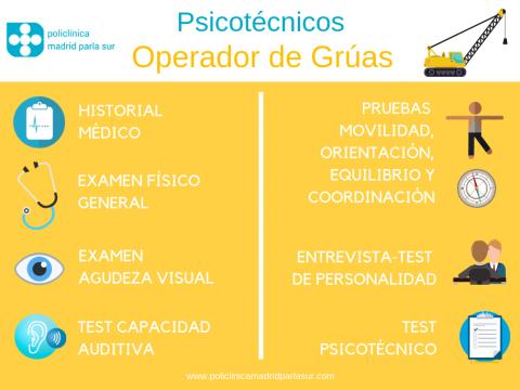 Psicotecnicos operador grua, infografia